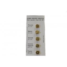 SET PLINSKIH DIZNI fi 0,40mm 0,55mm 0,65mm 0,75mm 0,90mm